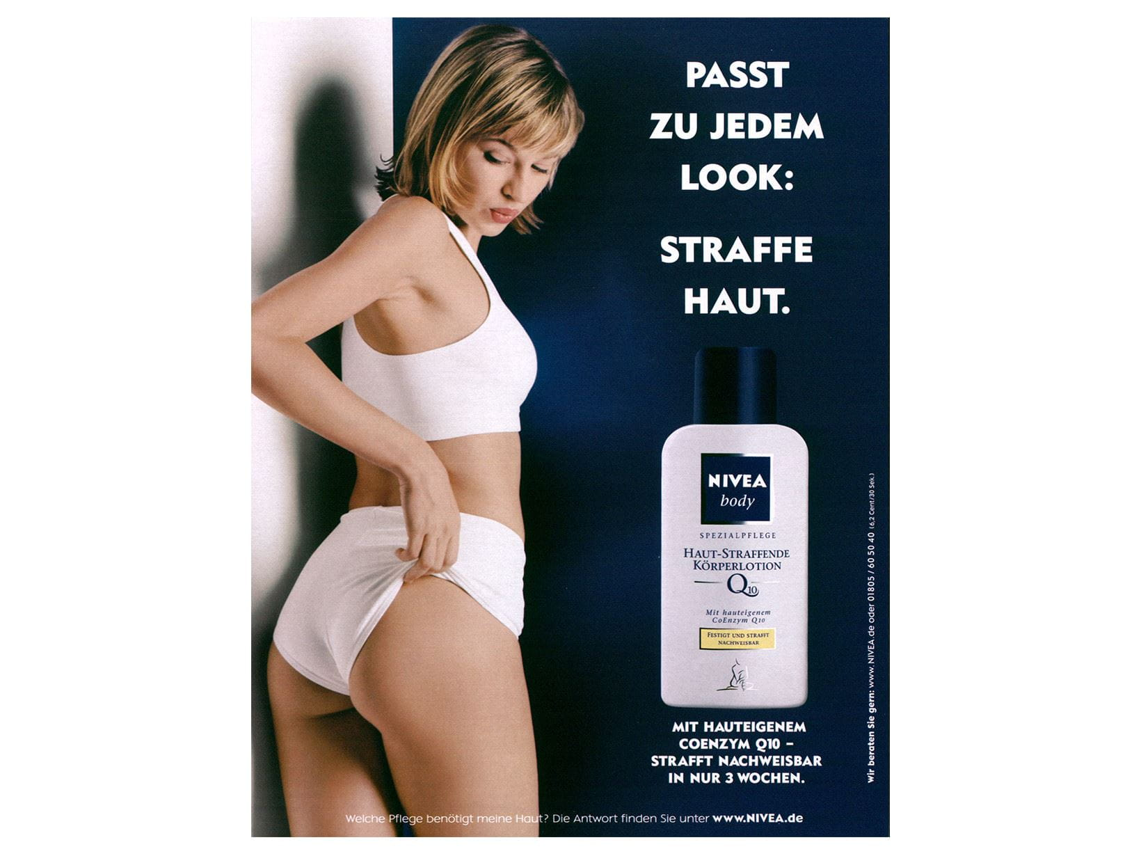 NIVEA advertisement Body Lotion Q10 2002