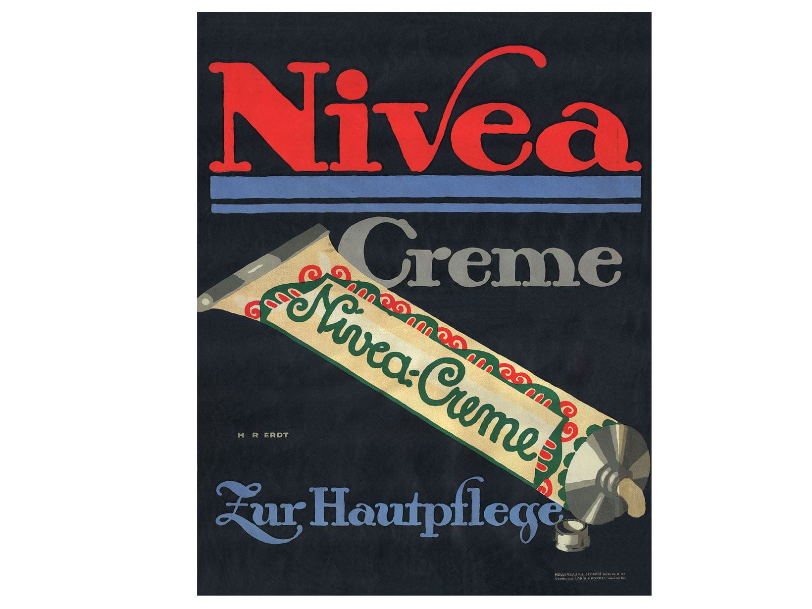 """One of the first NIVEA advertisements for cream and soap from 1911/1912"