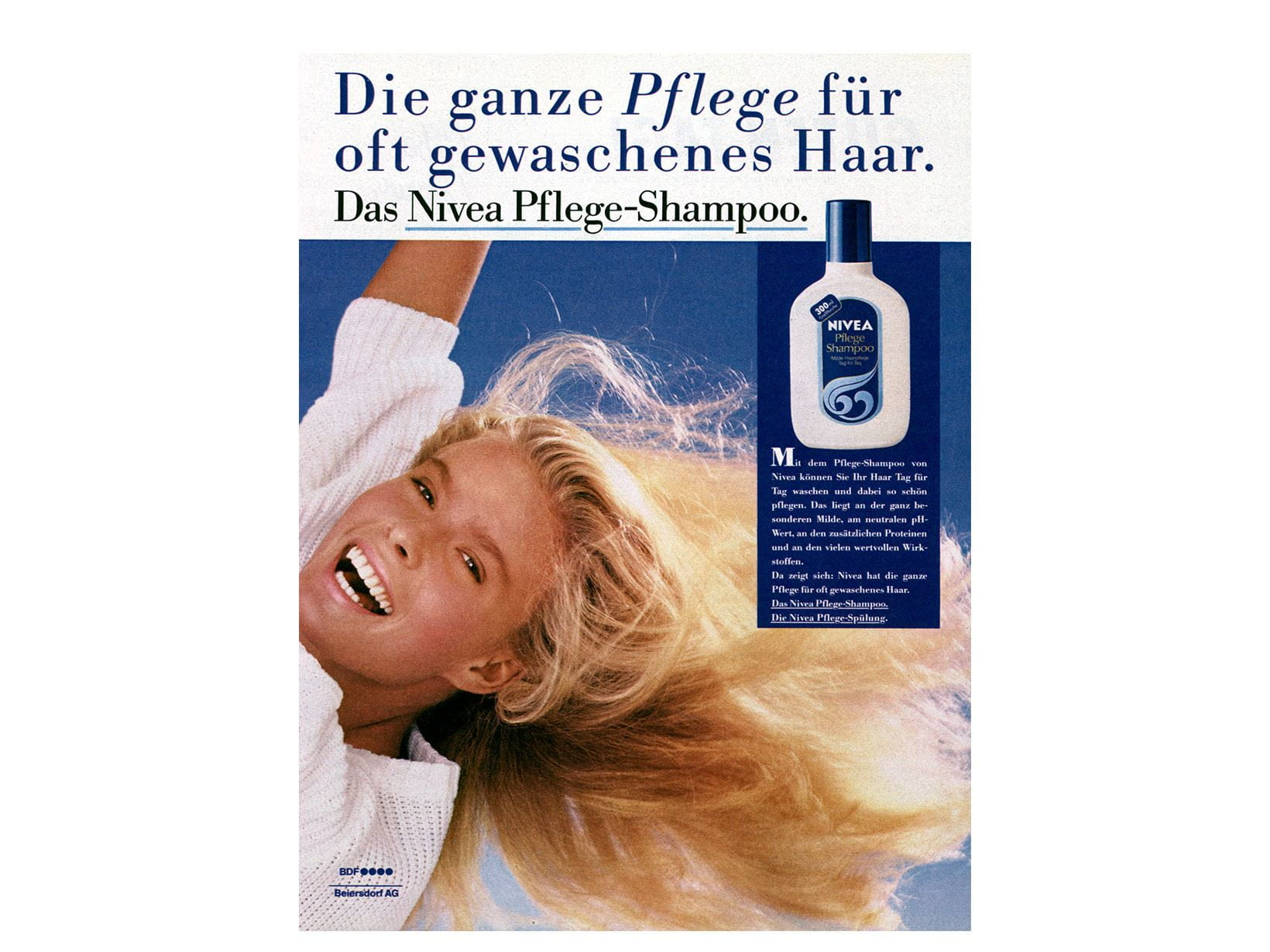 NIVEA advertisement Nourishing shampoo 1985